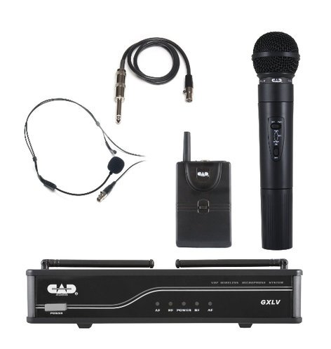 CAD Audio GXLVHBJ  VHF Wireless Combo System- Handheld And Bodypack Microphone System, J Frequency Band GXLVHBJ
