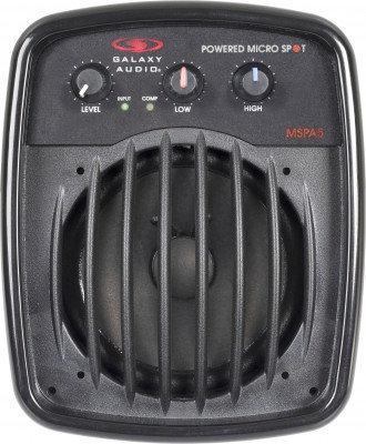 "Galaxy Audio MSPA5 Powered Micro Spot Speaker, 100 W, 5"" With  Full Range Driver MSPA5"