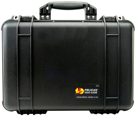 Pelican Cases 1500NF Medium Black Case with Empty Interior PC1500NF-BLACK