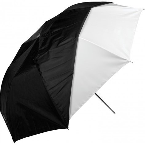 "Westcott 2011  43"" Optical White Satin Collapsible Umbrella with Removable Black Cover (109.2cm) 2011"
