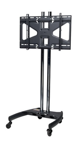 "Premier BW60-MS2  Mobile Cart with 60"" Dual Poles and Tilting Mount for Flat-Panels up to 160 lbs BW60-MS2"