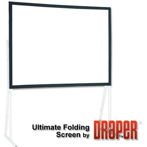 Draper Shade and Screen 241052  10 ft Ultimate Folding Matt White Screen Surface 241052
