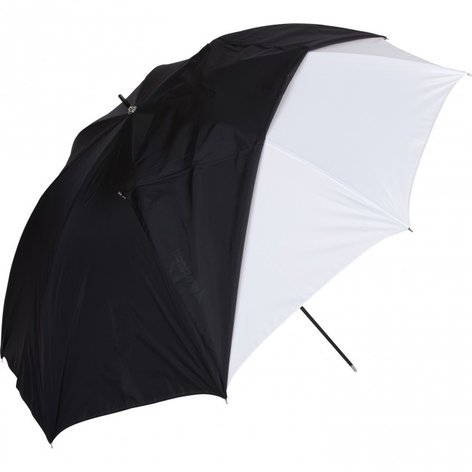 "Westcott 32"" White Satin Umbrella With Removable Black Cover 2012"