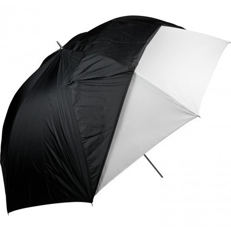 "Westcott 60"" White Satin Umbrella With Removable Black Cover 2021"