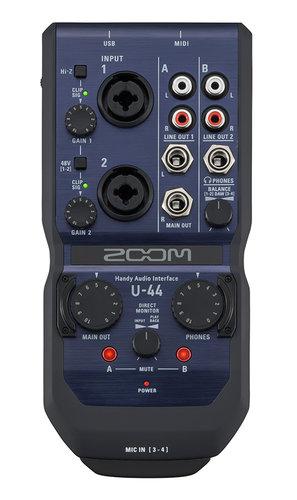 Zoom U-44 4-IN / 4-OUT, Handy Audio Interface U-44