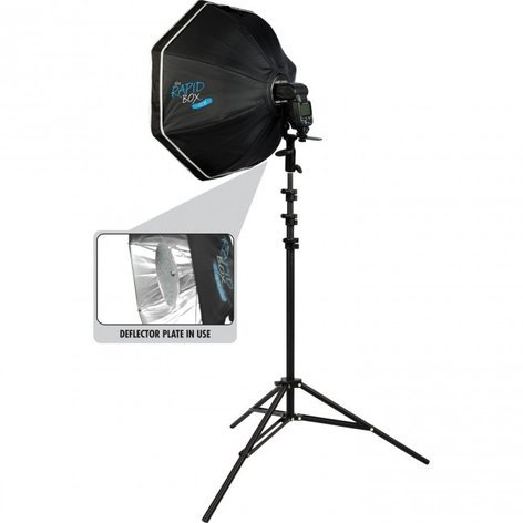 """Westcott Rapid Box 26"""" Octa Speedlite Kit With Deflector Plate and Light Stand 2035"""