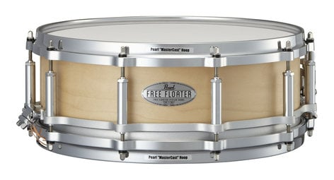 """Pearl Drums FTMM1450321 Task-Specific Free Floating 14""""x5"""" Snare Drum, Natural Maple FTMM1450321"""