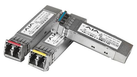 AJA FIBERLC-2-TX-12G 12G Transmitter on Fiber SFP for Use with FS4 FIBERLC-2-TX-12G