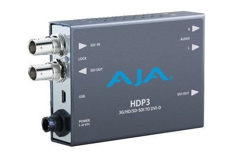 AJA HDP3-R0  Convert and Scale SDI Formats for Display on DVI and HDMI HDP3-R0