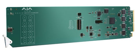 AJA OG-3G-AM  openGear 8-Channel AES Embedder/Disembedder  OG-3G-AM