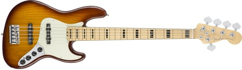 Fender American Elite Jazz Bass V Jazz Bass Guitar with Ash Body and Maple Fingerboard JBASS-AMELITE-5-MPL