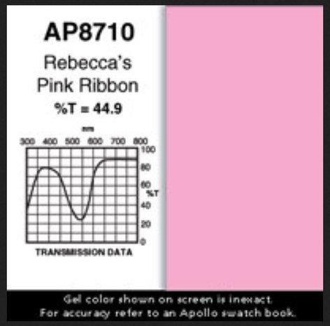 """Apollo Design Technology AP-GEL-8710  Rebecca Pink Ribbon 20""""x24"""" Gel Sheet AP-GEL-8710"""