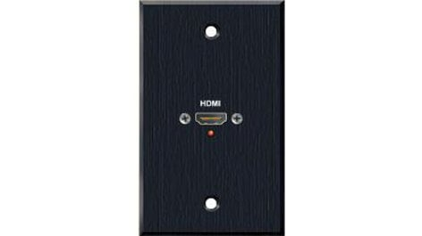 PanelCrafters PC-G1790-E-P-B  Precision Manufactured Single Gang HDMI Female Pass Through Wall Plate in Black PC-G1790-E-P-B