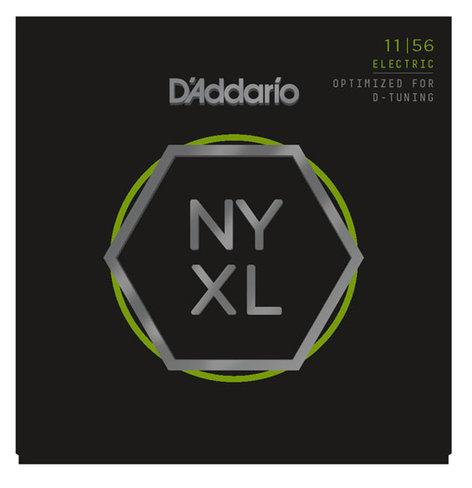 D`Addario NYXL1156 Nickel Wound Electric Guitar Strings, Medium Top/Extra-Heavy Bottom, .011-.056 NYXL1156