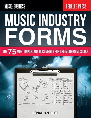 Hal Leonard Music Industry Forms The 75 Most Important Documents for the Modern Musician, by Jonathan Feist, Softcover, 128 Pages 121814