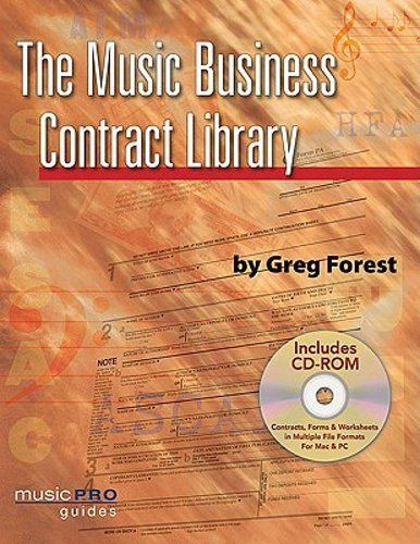 Hal Leonard The Music Business Contract Library By Greg Forest, Softcover with CD, 240 Pages 331946