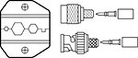 Ideal 30-581  Die Set for 30-506 Crimpmaster Crimp Tool, RG-58, RG-59/62, BNC/TNC 30-581