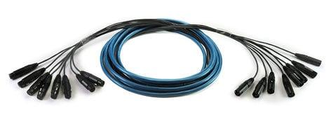 Whirlwind MT-4-F-M-200-SS  200 ft 4-Channel Fan to Fan Medusa Multitrack Snake with Snakeskin, 4 XLRF to 4 XLRM MT-4-F-M-200-SS