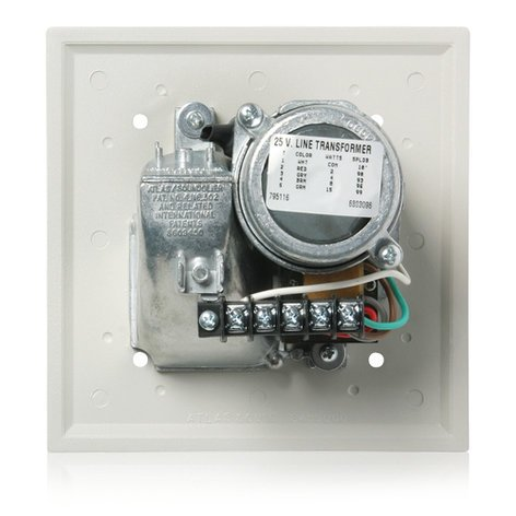 Atlas Sound VTF-157UCN Voice/Tone™ Recessed Compression Driver Loudspeaker 70.7V 15 W - Neutral Gray VTF157UCN