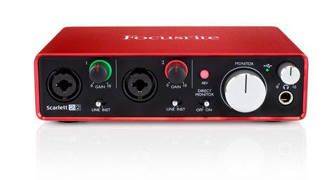 Focusrite Scarlett 2i2 2x2 USB Audio Interface, 2nd Generation SCARLETT-2I2-V2