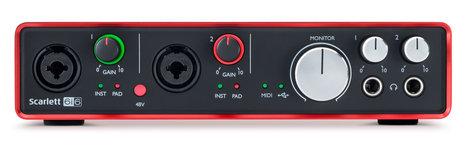 Focusrite Scarlett 6i6 (2nd Gen) 6x6 USB 2.0 Audio Interface SCARLETT-6I6-V2