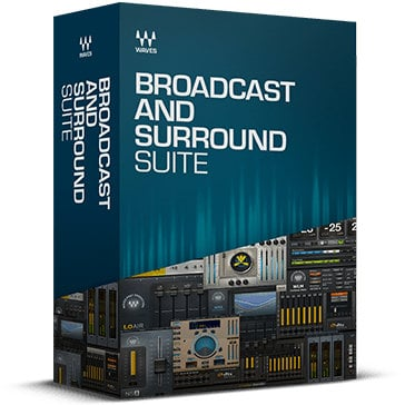 Waves Broadcast and Surround Suite [VIRTUAL] Audio Processing Software Bundle BCSURSTE