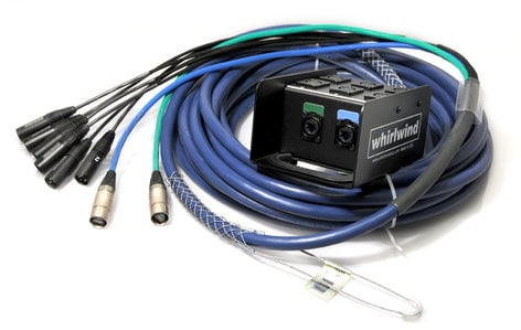 Whirlwind MD-6-2-C6-100 100 ft Medusa Data Snake with 6 XLR inputs and 2 CAT6 Lines MD-6-2-C6-100