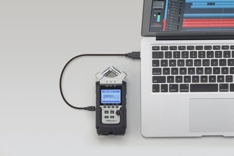 Zoom H4n Pro 4-track Portable Handheld Audio Recorder With Adjustible X/Y Microphone