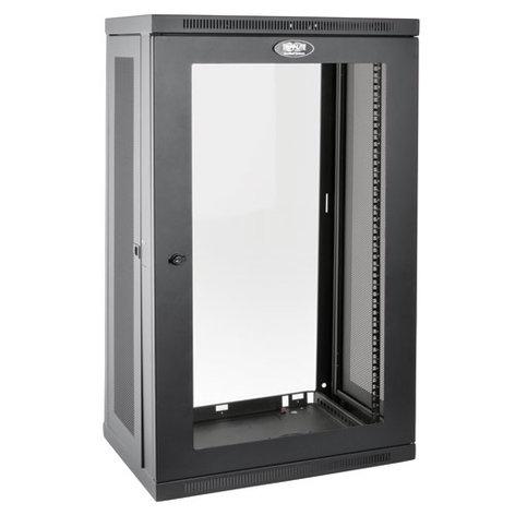 Tripp Lite SRW21UG  21RU SmartRack Wall-Mount Rack Enclosure Cabinet with Clear Acrylic Window SRW21UG
