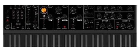 Studiologic Sledge Black Edition 61-Note Synthesizer, Black SLEDGE-2-BLACK