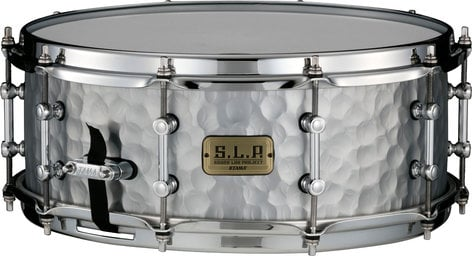 "Tama LST1455H Vintage Hammered Steel Snare Drum, 5.5""x14"" LST1455H"