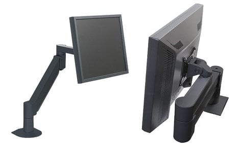 Argosy Consoles Monitor Arm-S4-B 7500 Series Monitor Arm in Black for Displays Weighing 13.5 to 44 lbs Monitor-Arm-S4-B