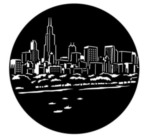 Apollo Design Technology ME-6056  Windy City Skyline Metal Gobo ME-6056