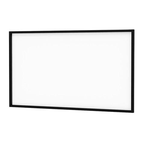 "Da-Lite 94000 108"" X 192"" Da-Snap Fixed Frame Projection Screen 94000"