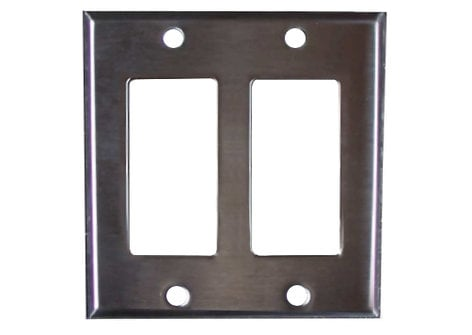 Pathway Connectivity 5002 Two Gang Faceplate P5002