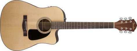 Fender FA-300CE Acoustic Slide Pack Natural Finish Acoustic/Electric Guitar with Slide Interface FA-300CE-DIS
