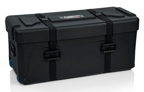 Gator GP-TRAP-3614-16 Deluxe Molded Drum Hardware Trap Case with Removable Tray and Recessed Wheels GP-TRAP-3614-16