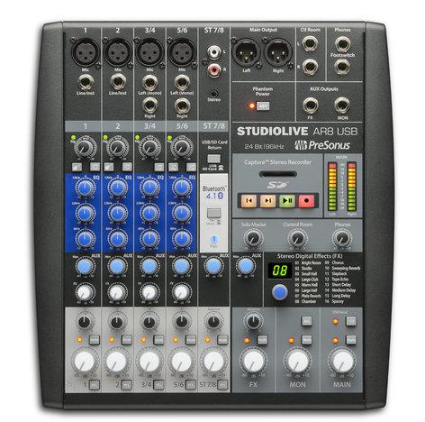 PreSonus StudioLive AR8 USB 8-channel Hybrid Performance and Recording Mixer  STUDIOLIVE-AR8