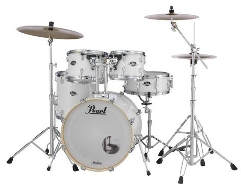 Pearl Drums EXX725-33 EXX Export Series 5-Piece Drum Kit with Hardware in Pure White Finish EXX725-33