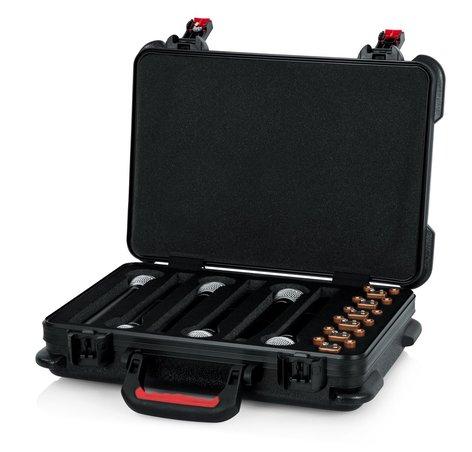 Gator Cases GTSA-MICW6 TSA Series ATA Case for (6) Wireless Microphones with Battery Storage GTSA-MICW6
