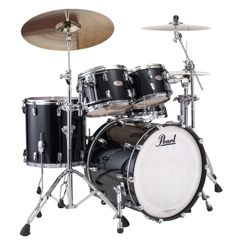 Pearl Drums RFP924XSP/103 4-Piece Reference Pure Shell Pack in Piano Black RFP924XSP/103