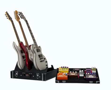 Gator Cases Gig Box Jr All-In-One Pedal Board/Guitar Stand Case with Power Supply GW-GIGBOXJRPWR