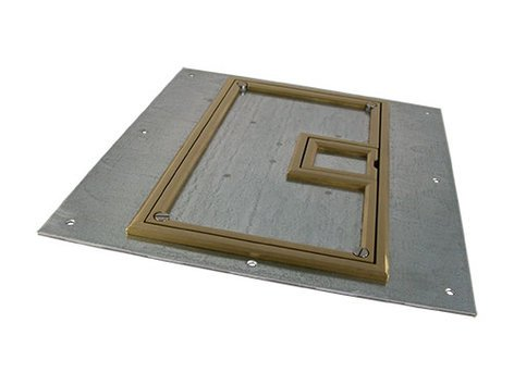 "FSR, Inc FL-600P-BLP-C  U-Access Cover for FL-600P Floor Box, with 1/4"" Brass Beveled Flange FL-600P-BLP-C"