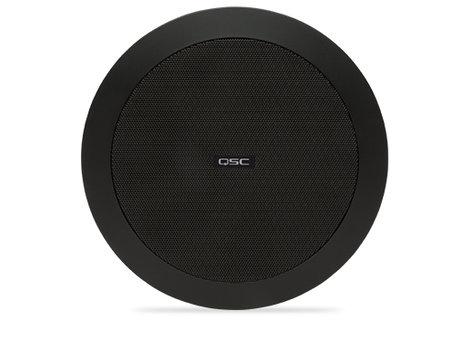 QSC AD-C4T Ceiling Speaker, 70/100V, Black, Sold In Pairs AD-C4T-BK