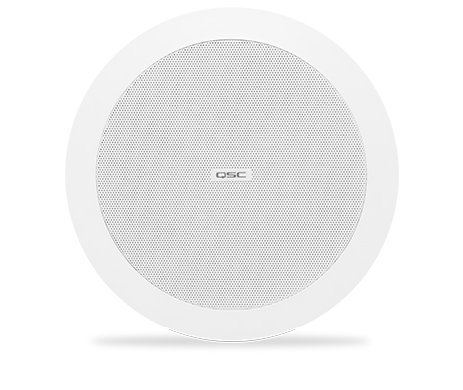 QSC AD-C4T Ceiling Speaker, 70/100V, White, Sold In Pairs AD-C4T-WH