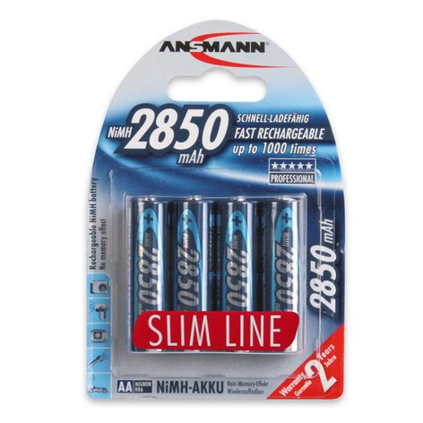 Ansmann USA AA-RECHARGEABLES AA Rechargeable Cells, 4 Pack AA-RECHARGEABLES