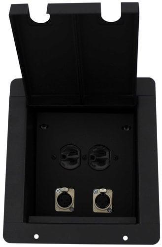 Pro Co PFB-2XF1AC  Sound Pocket with 2-XLRF and 1-Duplex AC Connector PFB-2XF1AC