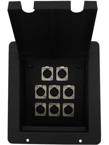 Pro Co PFB-8XF Sound Pocket Mini Recessed Floor Box with 8 XLRF Connectors PFB-8XF