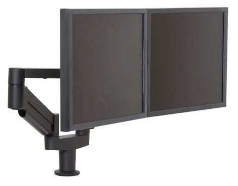 Argosy Consoles Monitor Arm-D1T-B Dual Twin Monitor Arm, Black Monitor-Arm-D1T-B