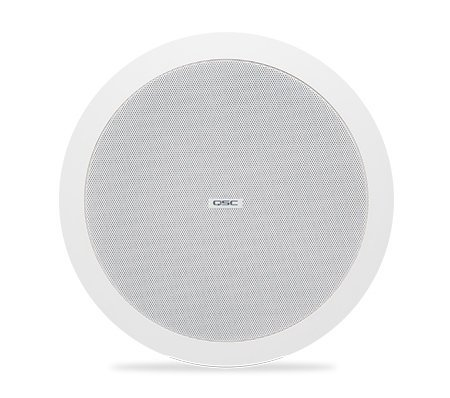 """QSC AD-C6T 6"""" Ceiling speaker, White, Sold In Pairs AD-C6T-WH"""